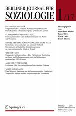 Berliner Journal für Soziologie 1/2017