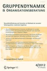 Gruppe. Interaktion. Organisation. Zeitschrift für Angewandte Organisationspsychologie (GIO)