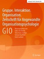 Gruppe. Interaktion. Organisation. Zeitschrift für Angewandte Organisationspsychologie (GIO) 4/2016