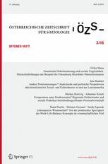 Österreichische Zeitschrift für Soziologie 3/2016