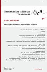 Österreichische Zeitschrift für Soziologie 3/2017