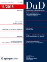 Datenschutz und Datensicherheit - DuD