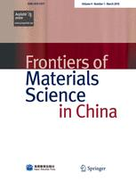 Frontiers of Materials Science in China