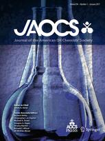 The Journal of the American Oil Chemists' Society