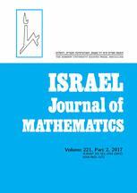 Israel Journal of Mathematics