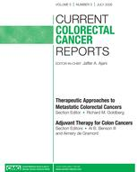 Current Colorectal Cancer Reports