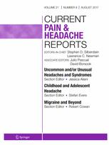 Current Pain and Headache Reports 8/2017