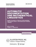 Automatic Documentation and Mathematical Linguistics