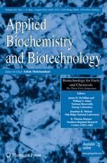 Applied Biochemistry and Biotechnology
