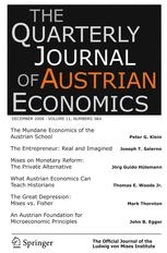 The Quarterly Journal of Austrian Economics