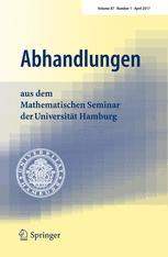 Abhandlungen aus dem Mathematischen Seminar der Universität Hamburg