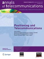annals of telecommunications - annales des télécommunications