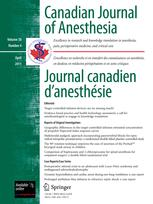 Canadian Journal of Anesthesia/Journal canadien d'anesthésie