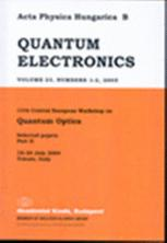 Acta Physica Hungarica Series B, Quantum Electronics