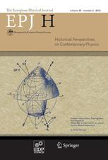 The European Physical Journal H
