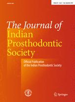 The Journal of Indian Prosthodontic Society