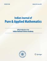 Indian Journal of Pure and Applied Mathematics