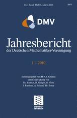 Jahresbericht der Deutschen Mathematiker-Vereinigung