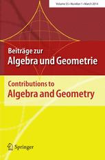 Beiträge zur Algebra und Geometrie / Contributions to Algebra and Geometry