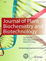 Journal of Plant Biochemistry and Biotechnology