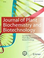 journal of plant biochemistry and biotechnology springer journal of plant biochemistry and biotechnology