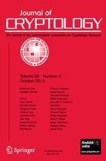 Journal of Cryptology cover image