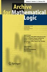 Archive for Mathematical Logic