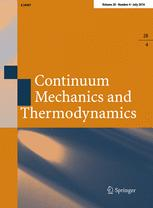 Continuum Mechanics and Thermodynamics
