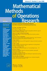 Mathematical Methods of Operations Research