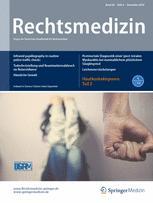 Rechtsmedizin 6/2016