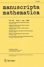 manuscripta mathematica