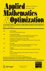 Applied Mathematics and Optimization