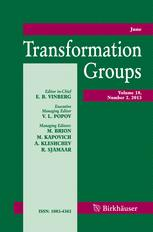 Transformation Groups