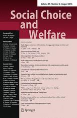 Social Choice and Welfare