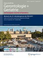 Zeitschrift für Gerontologie und Geriatrie 3/2017