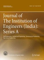 Journal of The Institution of Engineers (India): Series A