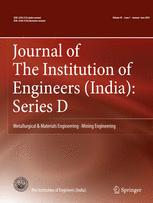 Journal of The Institution of Engineers (India): Series D