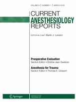 Current Anesthesiology Reports