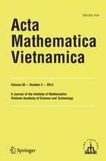 Acta Mathematica Vietnamica