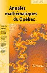 Annales mathématiques du Québec