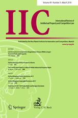 IIC - International Review of Intellectual Property and Competition Law