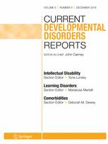 Current Developmental Disorders Reports