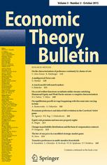 Economic Theory Bulletin