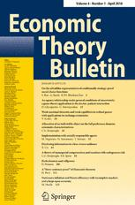 Economic Theory Bulletin
