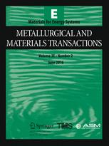 Metallurgical and Materials Transactions E