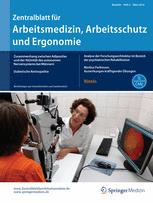 Zentralblatt für Arbeitsmedizin, Arbeitsschutz und Ergonomie 2/2016