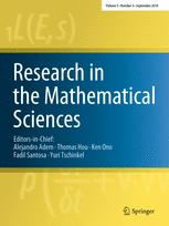 Research in the Mathematical Sciences