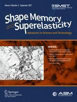 Shape Memory and Superelasticity 3/2017