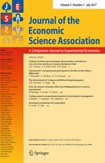 Journal of the Economic Science Association