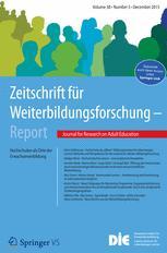 Zeitschrift für Weiterbildungsforschung - Report